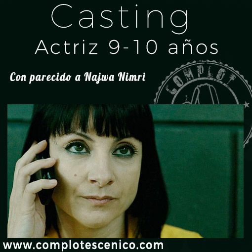 Casting para actriz 9-10 años